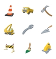 Repair road tools icons set cartoon style vector image vector image