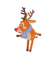 Confused Deer in blue Scarf Isolated on White vector image
