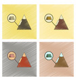 assembly flat shading style icon tent tourists vector image