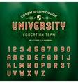 Retro alphabet schools team style vector image vector image