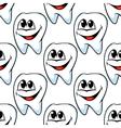 Repeat pattern of happy healthy teeth vector image vector image