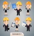 businessmen in helmet set1 2 vector image
