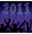 new year 2011 numbers vector image vector image