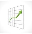 Economic growth vector image