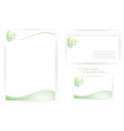 corporate identity templates with dna vector image