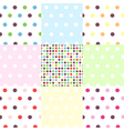 seamless patterns - polka dots set vector image