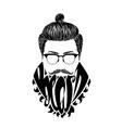 Black logo Beard vector image