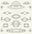 Art Deco Line vector image