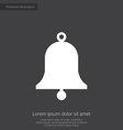 bell premium icon white on dark background vector image
