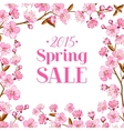 Cherry blossom sale card vector image