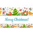 Christmas Symbols Background Horizontal Seamless vector image