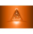 christmas tree star red vector image
