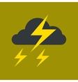 flat icon on stylish background lightning cloud vector image