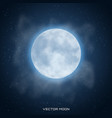 realistic beautiful moon with glow effect vector image