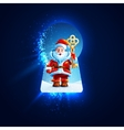 Santa Claus with a golden key in the keyhole vector image