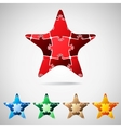 Star from puzzle pieces vector image
