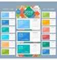 Wall calendar 2016 years design template vector image