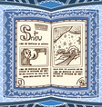 Ornamented magic book with the spell of snow vector image