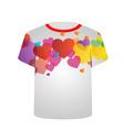 Printable tshirt graphic- Heart tee vector image