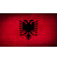 Flags Albania with dirty paper texture vector image
