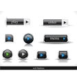 Set of dark web buttons vector image