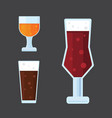 beer icons set bar alcohol vector image
