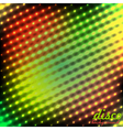 Disco background green red color vector image