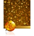 Gold happy Christmas cardwinter background EPS 8 vector image
