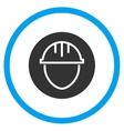 Helmet Circle Icon vector image