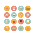 icons dessert vector image