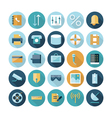 icons flat line ui connection vector image