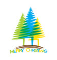 merry christmas tree design vector image