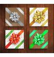 set of gift boxes - christmas and birthday giftbox vector image