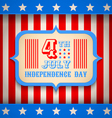 USA banner independence day vector image