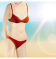 woman in bikini on summer sea beach vector image