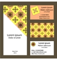 Business cards collection with geometric pattern vector image