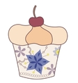 Cupcake vintage vector image