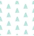 Stock Seamless Blue Christmas Tree Pattern vector image