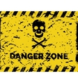 Danger zone grunge background vector image