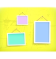 White frames on the wall vector image vector image