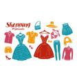 shopping fashion clothes shop boutique banner vector image