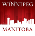 Winnipeg Manitoba Canada city skyline silhouette vector image vector image