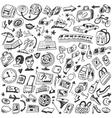 travel doodles vector image