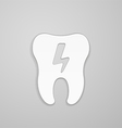 Lightning on white tooth vector image