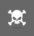 Jolly Roger Skull and bones pirate flag vector image