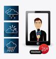 Weather mobile app design vector image