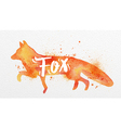 Painted animals fox vector image