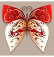 Bright decorative butterfly vector image