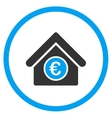Euro Financial Center Rounded Icon vector image