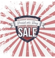 Presidents Day Sale Label and Ribbon with Text vector image
